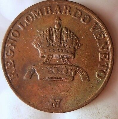 1822 ITALIAN STATES (LOMBARDY) CENTESIMO - Great Collectible Coin - Lot #916