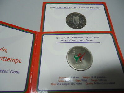 IRLAND 2003 - 5 Euro in Farbe, stgl. - SPECIAL OLYMPICS im Blister