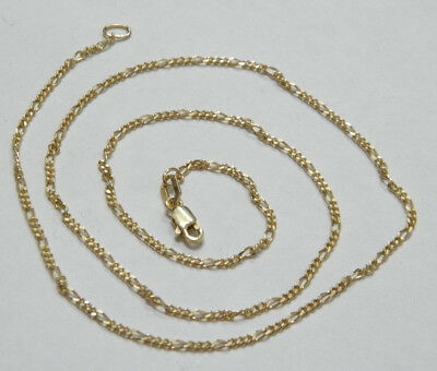 9ct/375 YELLOW SOLID GOLD CHILD'S UNISEX NECKLACE CHAIN rrp $329.00