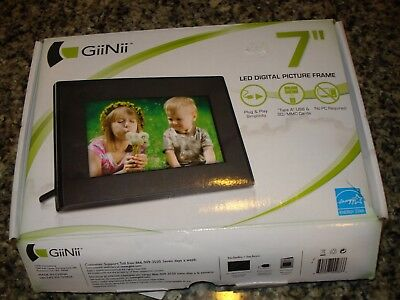 GiiNii 7 Inch LED Digital Picture Frame GT-701P-1 New Free Shipping