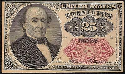 SERIES 1874 FRACTIONAL CURRENCY 25 CENT WALKER NOTE OLD PAPER MONEY Fr 1309