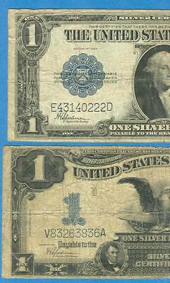 $1.00 1899 Black Eagle  + $1.00 1923 Silver Certificate Average Circulated  Pair