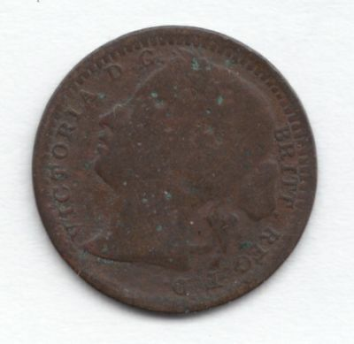 1868 One Third Farthing...99 cents opening...NR!