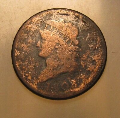 1808 Classic Head Large Cent Penny - Circulated Condition - 141SU-2