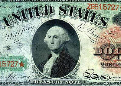 HGR 1869 $1 RARE ((Rainbow Note)) GEM AU - UNCIRCULATED
