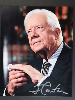 39th PRESIDENT JIMMY CARTER AUTOGRAPH 8 x 10 PHOTO~