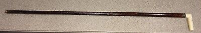 """Antique Bone And Silver Top 33"""" Cane Walking Stick"""