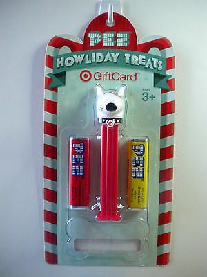 PEZ TARGET DOG Candy Dispenser Howliday Treats New On Card