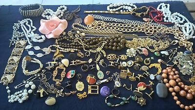 Deceased VINTAGE Estate bulk lot scarp repair broken jewellery 1.3KG cufflinks