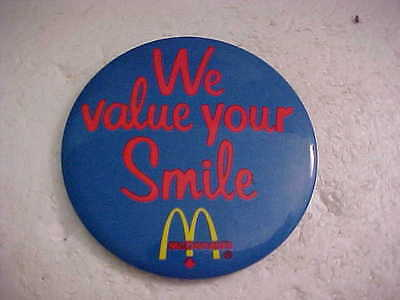 McDONALDS FRENCH FRIES SING THE TASTE PINBACK BUTTON