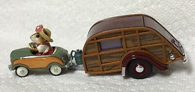 "Wee Forest Folk Special  Color ""Woody"" Pedal Pusher Car with His Camper"