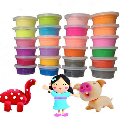 24 Colors Ultra Light Modeling Magic Air Dry Clay Crafts Kit Kids Best Gift New