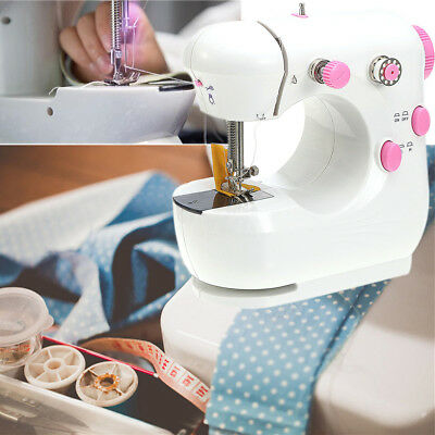 220V Multifunction Pink Electric Home Table Sewing Machine Handwork US Plug