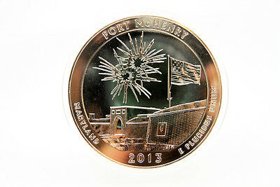USA - 5 oz America the Beautiful - Fort McHenry - 2013 - TOP