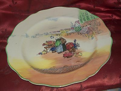 "Royal Doulton Series Ware -  ""Dutch Flower Market"" D4785 Plate 8.5 inches"