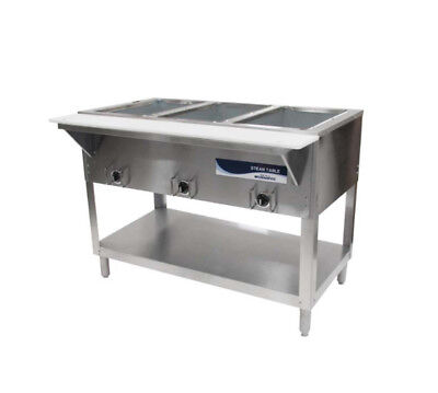 """Radiance RST-4P 58"""" Electric S/s Hot Food Steam Table w/ 4 Top Openings"""