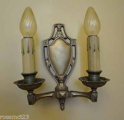 Vintage Sconces twelve antique 1920s sconces   Ten 2 arm   Pair 1 arm