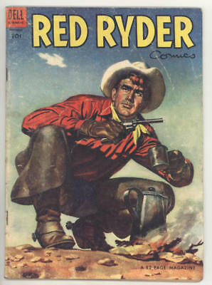 December 1953 RED RYDER #125 comic book with painted cover