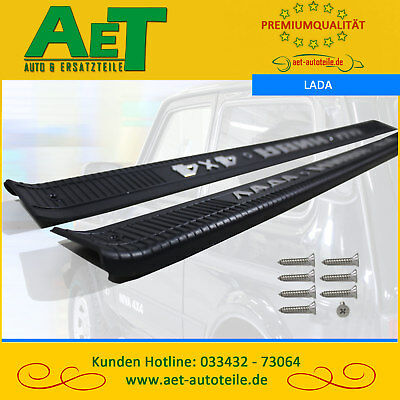 Door Sill Protection schwellerauflage + Mounting Set Lada Niva Taiga 4x4 Urban