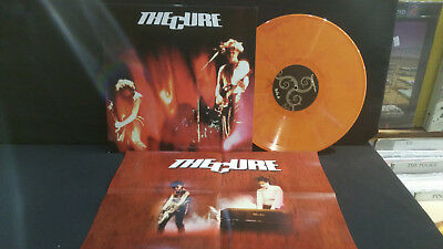 The Cure ‎– Temptation ' LP MINT ORANGE LIMITED TO 100    POSTER INCLUDED