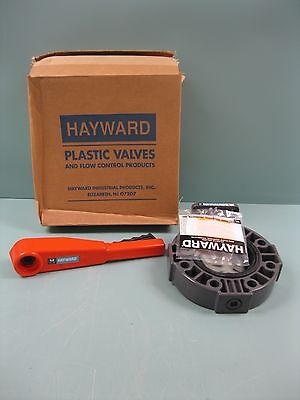 "4"" Hayward PVC Butterfly Valve PP Disc BY140400EL NEW D11 (2241)"