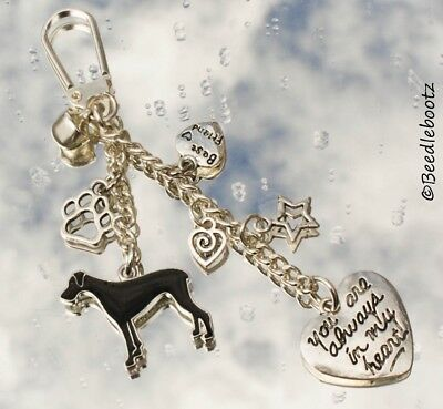 Great Dane Key Ring, Always In My Heart, Best Friend. Hand Made With Love.xXx