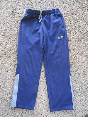 Under Armour Loose Navy/Gray Youth Polyester Workout Pants size Med