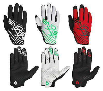 661 SIXSIXONE Raji Full Finger Gloves - WHITE/GREEN RED/BLACK BLACK/WHITE _7110