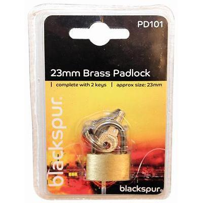25mm Brass Mini Luggage Suitcase Shed Door Cupboard Lock Padlock & Keys