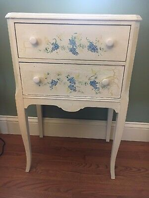 Vintage Sewing Cabinet Table Stand with Swivel Thread Notions Drawer