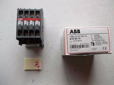 New In Box Abb Contactor A16-30-10 1Sbl181001R8110  (151-1)