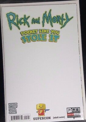 Rick and Morty Pocket Like You Stole It #1 Supercon Blank Cover Variant