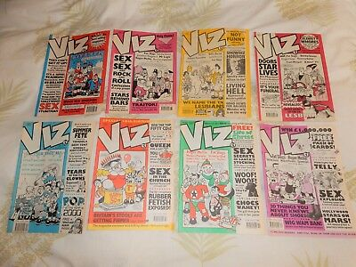 8 x Vintage VIZ Comics issues #45 to #52  Dec 1990 to March 1992