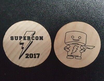 Supercon 2017 Wooden Nickles Set of 5 Florida/Raleigh Unique Collectible