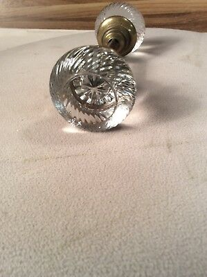 Rare Htf Beautiful Vintage Swirl Clear Glass Door Knob