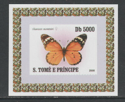 St Thomas & Prince 5746 - 2008 BUTTERFLIES  imperf deluxe sheet unmounted mint