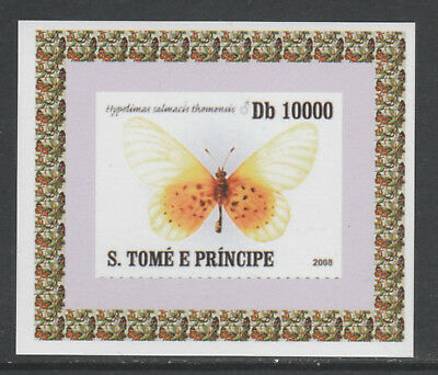 St Thomas & Prince 5749 - 2008 BUTTERFLIES  imperf deluxe sheet unmounted mint