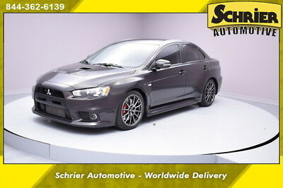 2015 Mitsubishi Evolution Evolution GSR Sedan 4-Door 15 Mitsubishi EVO Black AWD Manual 12 Volt Turbocharged
