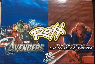 2012 Roxx The Amazing Spider-Man, The Avengers Box Of 24 Sealed Packs