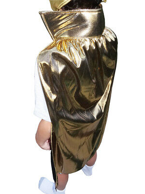 "Lucha Libre Halloween YOUTH JR Luchador Costume Lycra Cape 30"" - GOLD"