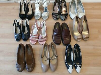 Lot of womens shoes size 8/8.5 Naturalizer Hush Puppies Fioni Franco Sarto Exc!