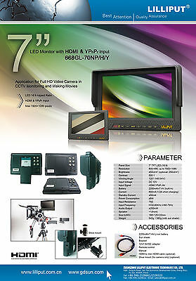 """7""""HD MONITOR 1080P VIDEO VIEWER TAP HDMI for CANON HVX-200 Gopro Hero Sony x3000"""