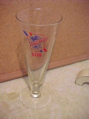 Wagner Beer Pilsner Glass Wagner Brewery Granite City Ill. Very Nice Closed 1938