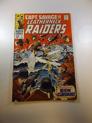 Capt. Savage and his Leatherneck Raiders #7 FN- condition