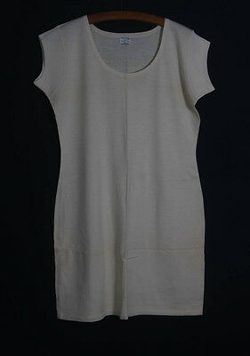 VINTAGE 1940s CREAM WOOL LADIES VEST CHILPRUFE OS SHORT SLEEVED  OLD STOCK (541
