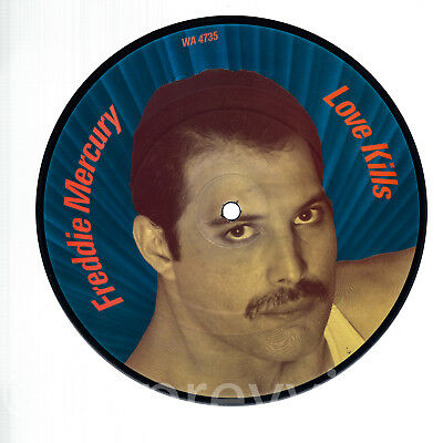 "Queen Freddie Mercury Love Kills MINT UK 7"" Picture Disc"
