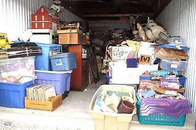Storage Unit -Liquidation-10' X 20'-Full Of Antiques-Old Toys Records-Furniture