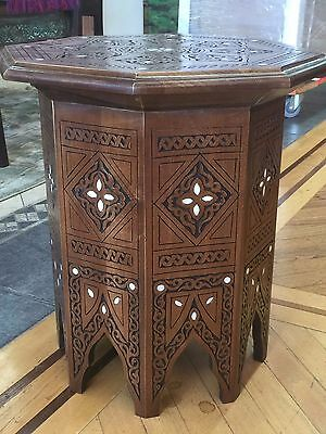 Original Syrian made Middle Eastern Moroccan Moorish side end Table.