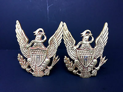 Antique Solid Brass Eagle Curtain Tie Backs Coat Hooks Architectural Salvage