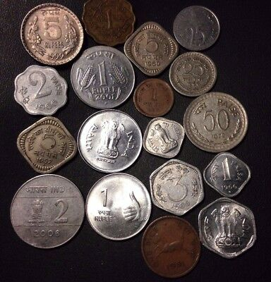 Old India Coin Lot - 1945-Present - 18 Excellent Coins - Lot 918